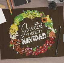 juntos hacemos navidad. A Illustration, and Graphic Design project by Elena Chirino González         - 16.12.2015