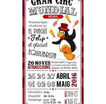 Cartel para un circo. A Design, Illustration, Graphic Design, T, pograph, and Calligraph project by Anna Escofet         - 18.02.2016