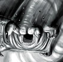 Spider worm. Un proyecto de Ilustración de Andrés Muñoz Gómez         - 16.09.2016