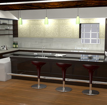 Cocina 3D. Um projeto de 3D, Arquitetura e Arquitetura de interiores de Alexandre Seabra         - 20.09.2016