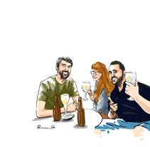 Gente del bar. Un proyecto de Ilustración de Quim Sosa         - 22.09.2016