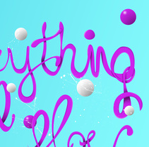 Everything will flow lettering. A Graphic Design, T, and pograph project by sergi nadal         - 22.09.2016