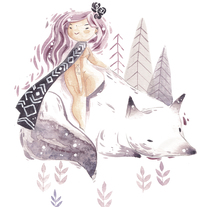 White Wolf. A Illustration, Character Design, and Fine Art project by Lydia Sánchez Marco - Sep 27 2016 12:00 AM