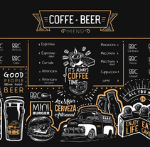 Coffe&Beer . A Design, Illustration, Design Management, Fine Art, Graphic Design, Information Design, T, and pograph project by Maria Rueda - Sep 28 2016 12:00 AM