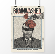 Cartel presentación álbum Brainwashed por George Harrison. A Graphic Design, and Collage project by Noe Harrison         - 10.10.2016