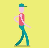 walking cicle. Un proyecto de Animación, Diseño de personajes e Ilustración de Natalia Peña - Sábado, 08 de octubre de 2016 00:00:00 +0200