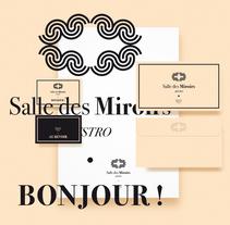 Salles des Miroirs. Logo + identidad + Packaging. Lille (Francia). Un proyecto de Dirección de arte, Br, ing e Identidad, Diseño gráfico, Packaging y Tipografía de Jose Balsalobre - 18-10-2016