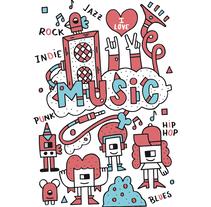 Music -  I Love. Un proyecto de Diseño, Ilustración y Dirección de arte de David  Sean         - 26.10.2016