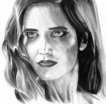 Retrato Eva Green como Ava Lord (Sin City 2). A Illustration, Film, Video, TV, and Film project by helena diaz         - 29.10.2016
