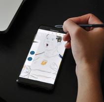 Probando un Samsung Galaxy Note 7 con Adobe Draw. Um projeto de Ilustração e Artes plásticas de daniel berea barcia - 01-11-2016