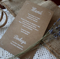 WEDDING MENU. A Design, Photograph, Graphic Design, and Screen-printing project by Anna Garcia Montolio         - 26.11.2016