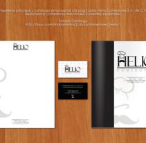 Comedores Helio . Un proyecto de Diseño editorial de Mayte Molina         - 19.04.2015