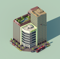 Big City Square. A 3D, Architecture, Art Direction, and Graphic Design project by Dídac Soto Valdés - 08-11-2016