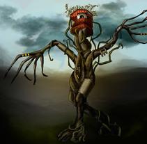 Ilustración digital: Mechanical Tree. Un proyecto de Ilustración de Bonaria Staffetta         - 05.10.2016