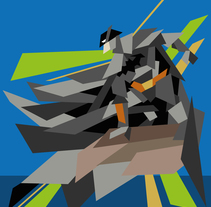 Batman Geometric. A Design, Illustration, Character Design, Graphic Design, and Comic project by Edgar Sedeño         - 11.05.2016