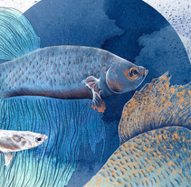 Blue Fish. A Illustration, Art Direction, and Fine Art project by Lucía Paniagua - 13-11-2016