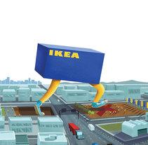 IKEA se muda. A Illustration, and Advertising project by Rafa García de la Mata - 18-06-2016
