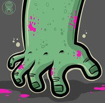 Mano zombie. Un proyecto de Diseño, Ilustración, Dirección de arte, Diseño de personajes, Bellas Artes, Diseño gráfico, Serigrafía y Comic de Fernando Sala Soler - 22-11-2016