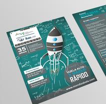 Vuela alto y hazlo rápido. A Design, and Graphic Design project by 2mas2 Comunicación         - 23.11.2016