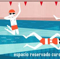 Ilustración: Nadadores. Un proyecto de Ilustración de laura Sebastián         - 28.11.2016
