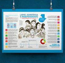 Proyecto Académico Universitario ONU mujeres.. Un proyecto de Ilustración e Infografía de Michelle Bishop         - 13.12.2016