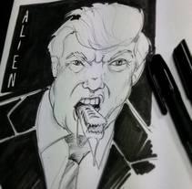 Trump. A Illustration, Fine Art, and Comic project by Isem Garcia Massana - 14-12-2016
