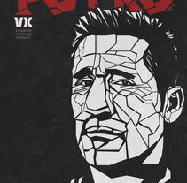 Retrato Poli Díaz. Um projeto de Design, Ilustração, Design gráfico e Caligrafia de Javier López         - 27.12.2016