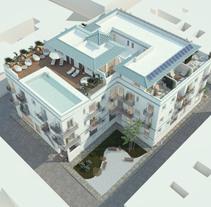 Apartamentos en Tarifa. Infografías y diseño interior. Un proyecto de Diseño, 3D, Arquitectura interior e Infografía de DIKA estudio         - 29.12.2016