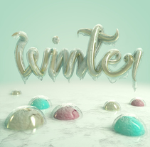 Winter. Un proyecto de 3D, Diseño gráfico, Escritura y Caligrafía de Marina  - 15-01-2017