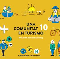 Gráficos y Motion para la ley de turismo de la Comunitat Valenciana. A Illustration, Animation, Graphic Design&Infographics project by Jaime  Hayde - 21-01-2017