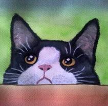 Gato Acuarela. Um projeto de Ilustração de JESSICA BERRAQUERO LARA         - 27.01.2017