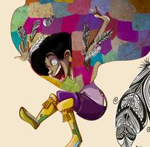 La bruja cuervo. Un proyecto de Diseño, Ilustración y Diseño de personajes de Venisa Del Aguila - 31-01-2017