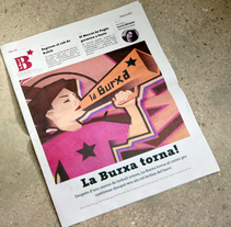 "Ilustración para periódico cultural-reivindicativo ""La Burxa"", Barcelona.. A Illustration, Editorial Design, and Graphic Design project by Not On Earth - Marc Soler - 24-12-2016"