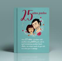 Invitación bodas de plata. Um projeto de Design e Ilustração de Almudena La Orden         - 09.11.2016