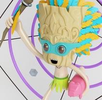 Tiki Man Diseño de personajes en Cinema 4D. Un proyecto de Diseño de Luis  Pedraza - 06-02-2017