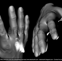 Manos 3D sin Textura. Um projeto de 3D e Design gráfico de Ivan C         - 09.01.2016