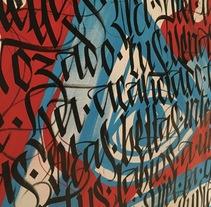 Lienzo caligrafiado e ilustrado para el festival de Arte Urbano de ST. Merry - París. A Calligraph, and Street Art project by Mr. Zé  - 14-06-2016