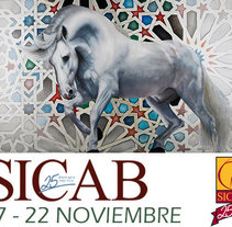 Cartel Sicab salón Internacional del Caballo Español 2015. Un proyecto de Diseño, Ilustración y Pintura de Magdalena Almero Nocea         - 14.02.2017