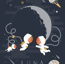LUNA - To the moon and back. Un proyecto de Ilustración de Fernando  - 19-02-2017