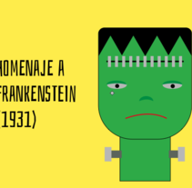 #HomenajeCineTerrorFrankenstein. A Motion Graphics, and Animation project by Amelia Fernández Valledor         - 19.02.2017