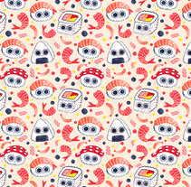 Sushi Patterns. A Illustration, Graphic Design, and Painting project by André Gijón - 23-02-2017