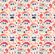 Sushi Patterns. Un proyecto de Ilustración, Diseño gráfico y Pintura de André Gijón - 23-02-2017