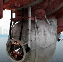 Batiscafo Trieste CGI 3D. Um projeto de 3D e Design industrial de Ivan C         - 22.02.2017