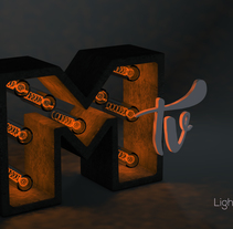Letra 3D con luces. A 3D project by Bruno Nieto - 24-02-2017