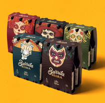 Cerveza Burrita. A Illustration, Graphic Design, and Packaging project by Matias Harina - 11-10-2016