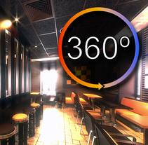 Interior Restaurante CGI 3D 360º. Un proyecto de 3D, Animación, Arquitectura, Diseño de muebles, Diseño gráfico y Vídeo de Ivan C         - 03.03.2017