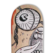 Skateboard • Creepy life #SkateArt. A Design, Illustration, and Art Direction project by Matdisseny (marc argelich trigo) - 13-02-2015