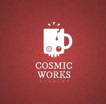 Cosmic Works Studios Brand. Um projeto de Design gráfico de Oscar Casanova         - 10.12.2015