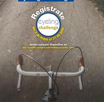 Poster Cycling challenge. Un proyecto de Diseño, Fotografía, Dirección de arte y Diseño gráfico de Javier Gómez Ferrero - 28-04-2016