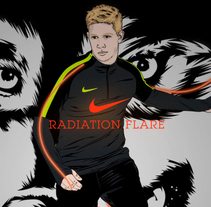 Nike // Radiation Flare. A Illustration, Animation, and Art Direction project by CranioDsgn  - 21-03-2017